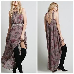 Free People Float on a Sunbeam Floral Maxi